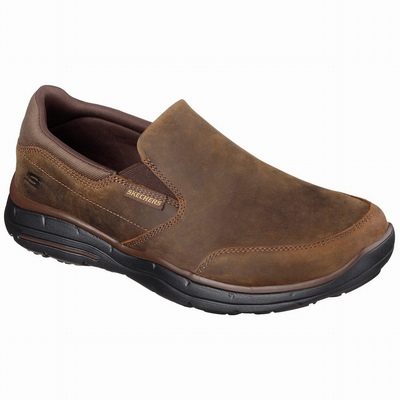 Barato Sapatilhas Casual Skechers Relaxed Fit: Harper - Walton Homem Marrom | 799-48770