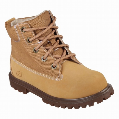 Botas Skechers Work Relaxed Fit: Soft Stride - Grinnell Comp Menino Marrom | 372-33898