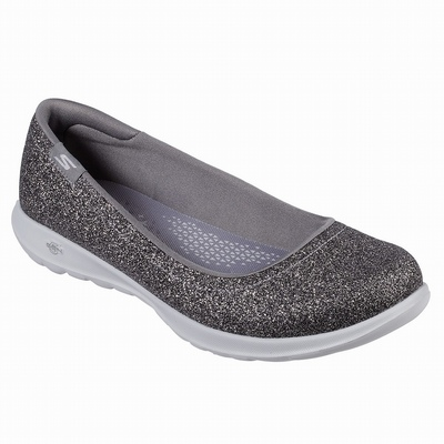 Desconto Sapatilhas Casual Skechers Double Up - Lil Glitzy Gal Mulher Prateadas | 920-50635