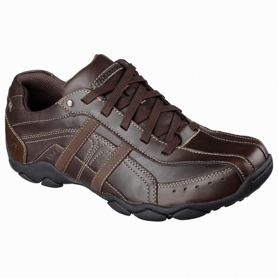 Loja Sapatilhas Casual Skechers Relaxed Fit: Expended - Manden Homem Marrom | 268-23280
