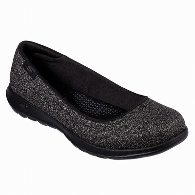 Online Sapatilhas Casual Skechers Double Up - Lil Glitzy Gal Mulher Pretas | 405-34265
