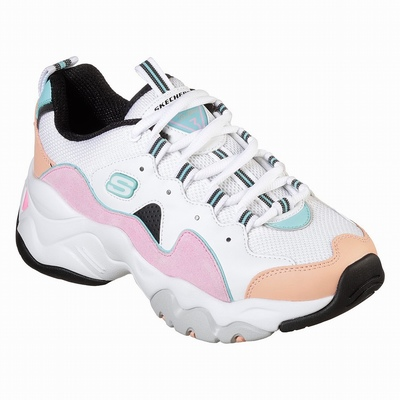 Online Tenis Skechers BOBS Plush - Peace and Love Mulher Branco / Rosa / Azuis | 972-43742