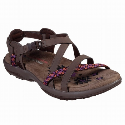 Outlet Sandálias Skechers GOwalk Outdoors Ultra - Trail Angel Mulher Chocolate | 598-33403