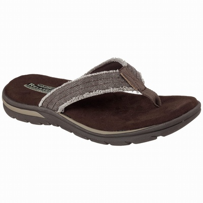Outlet Sandálias Skechers Skech-Air Ultra Flex Homem Chocolate | 971-75073