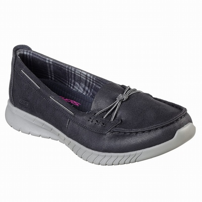 Outlet Sapatilhas Casual Skechers D'Lites 3 - Zenway Mulher Azul Marinho | 747-49517