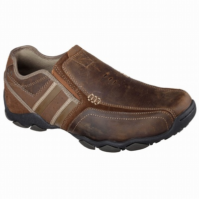 Outlet Sapatilhas Casual Skechers Relaxed Fit: Expended - Seveno Homem Marrom | 665-53429