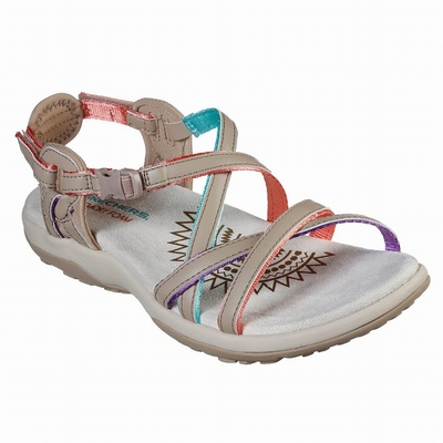 Sandálias Skechers Graceful - Get Connected Mulher Bege | 771-67867