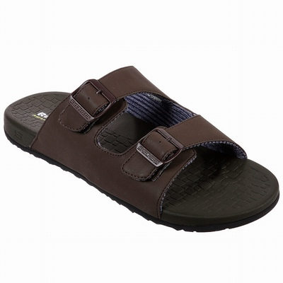 Sandálias Skechers Skech-Air: Elment - Brencen Homem Chocolate | 130-83765