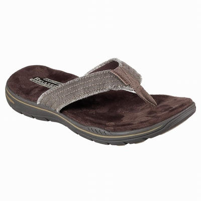 Sandálias Skechers Skybound Homem Chocolate | 983-31812