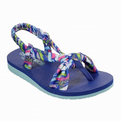Sandálias Skechers Twinkle Toes: Shuffle Brights - Sparkle Wings Menina Azuis / Multicoloridas | 163