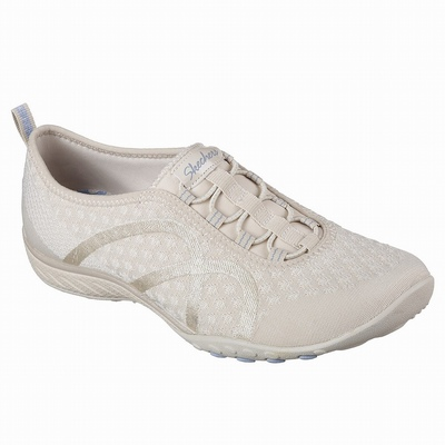 Sapatilhas Casual Skechers Cleo - Bewitch Mulher Bege | 650-83946