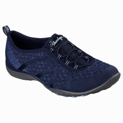 Sapatilhas Casual Skechers Cleo - Bewitch Mulher Azul Marinho | 280-27221