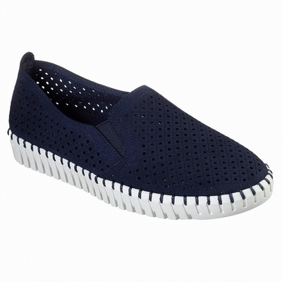 Sapatilhas Casual Skechers D'Lites - Glamour Feels Mulher Azul Marinho | 480-18306