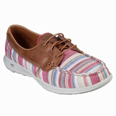 Sapatilhas Casual Skechers Delson 2.0 - Weslo Mulher Bege / Multicoloridas | 784-77584