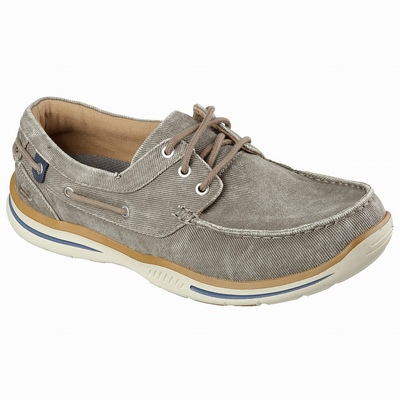 Sapatilhas Casual Skechers Relaxed Fit: Rovato - Texon Homem Luz Marrom | 287-59975