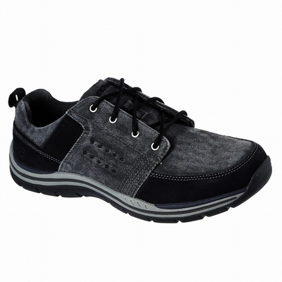 Sapatilhas Casual Skechers Relaxed Fit: Staxed - Volted Homem Pretas | 980-69790