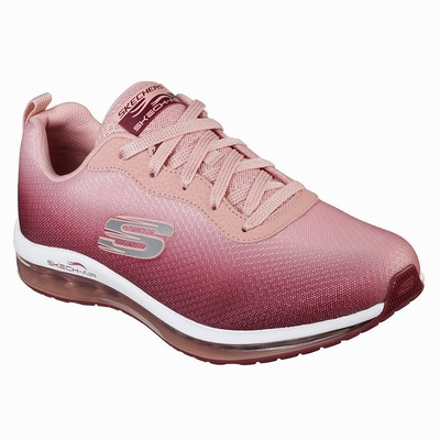 Tenis Skechers After Burn M. Fit Mulher Bordeaux / Rosa | 449-26364