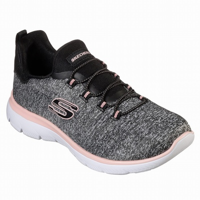 Tenis Skechers Be Light - What A Twist Mulher Pretas / Coral | 852-56461