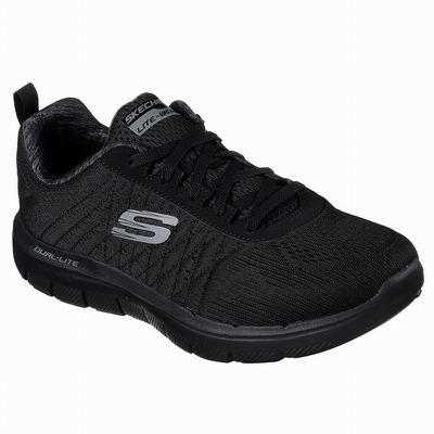 Tenis Skechers Relaxed Fit: Commute Time - Palm Tree Holiday Homem Pretas | 679-46360