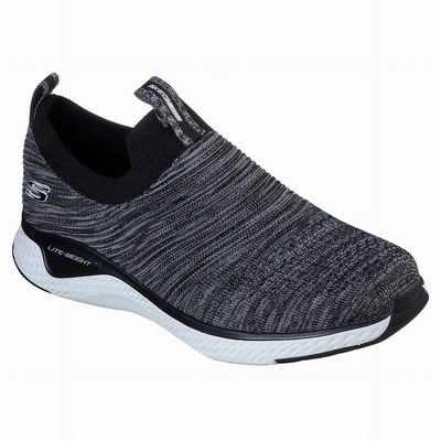 Tenis Skechers Relaxed Fit: Empire D'Lux - Spotted Homem Pretas / Branco | 310-28715