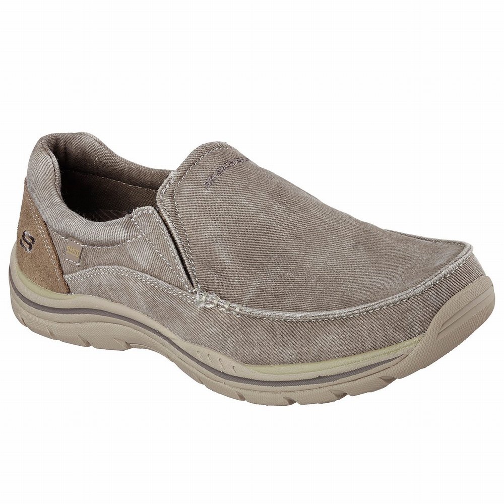 Sapatilhas Casual Skechers Relaxed Fit: Superior - Levoy Homem Caqui | 614-92177